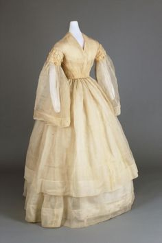 Wedding dress, 1858-63 From the Chester County Historical...