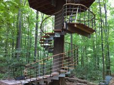 Treehouse Spiral Stairs | Re: Tree House time (pictures)