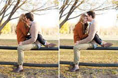 engagement pics. Love this idea, except my man won't forget to wear his socks.....