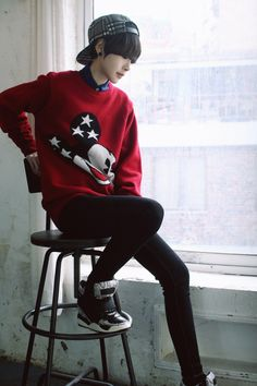#han hyeyeong #ulzzang tomboy *I have no idea if this is a he or a she :/