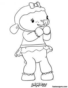 Printable Lambie the Lamb Doc McStuffins Coloring Pages - Printable Coloring Pages For Kids
