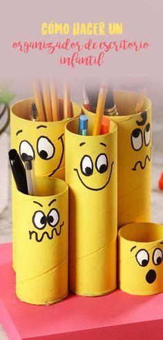 Si quieres ordenar el escritorio de tus hijos de una manera fácil y divertida este tip es una excelente opción que le encantará a los pequeños.