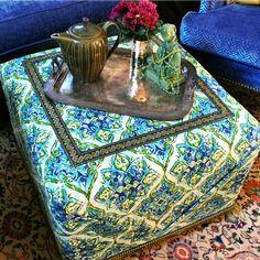 No Sew Ottoman DIY!