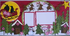 santa scrapbooking page Christmas Scrapbook Layouts, Disney Scrapbook, Baby Scrapbook, Scrapbook Cards, Scrapbooking Ideas, Scrapbook Sketches, Scrapbook Page Layouts, Christmas Cards, Christmas Layout
