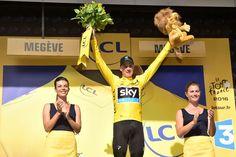 PHOTO 21/07/2016 PARTAGER Tour de France 2016 - 21/07/2016 - Etape 18 - Sallanches / Megève (17 km CLM) - Christopher FROOME (TEAM SKY) conserve toujours le maillot Jaune © ASO/A.Broadway