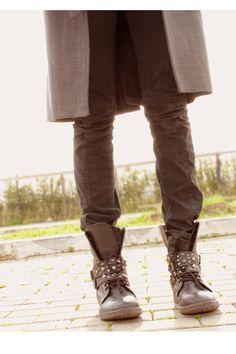 Black Bata boots and studs #batashoes #bataboots