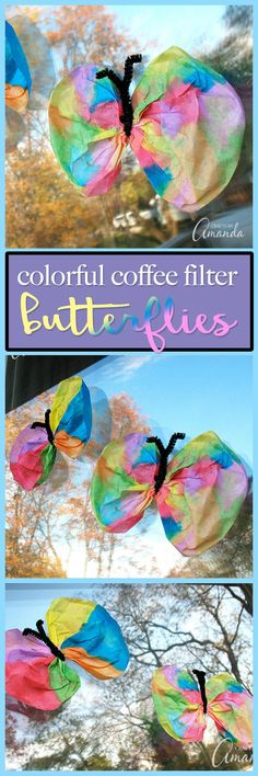 This classic coffee filter butterfly craft is always popular with kids. Coffee filters and watercolor paint turn into beautiful butterflies!