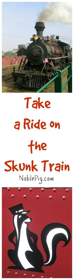 Take a ride on the Skunk Train in the North Coast of California. The kids and adults will enjoy this beautiful vintage train ride through the redwoods and unparalleled scenery.