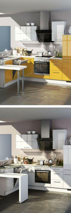 Unique Inspiration Diese gelbe Design K che sorgt f r gute Laune beim Kochen