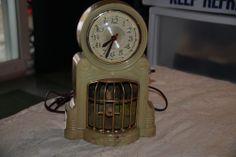 Vintage MASTERCRAFT Bird Swinging Electrical Clock USA Sessions Movement Lighted