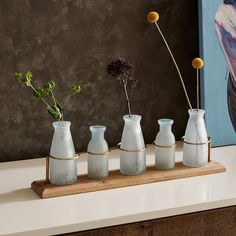Waterscape Bud Vase Centerpiece | west elm