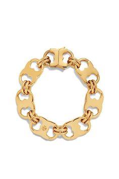 Tory Burch Gemini Link Bracelet in Shiny Gold