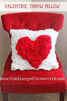 the Diary of DavesWife: Valentine Throw Pillow