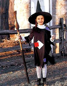Witch Halloween Costume: this reminds me of up north when I was little. Too cute