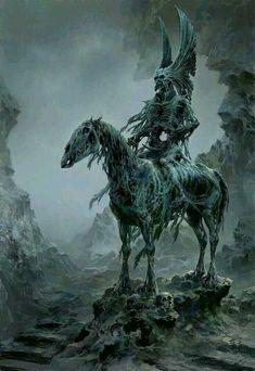 The dazzling fantasy universe of digital painter Tianhua Xu Dark Fantasy Art, Fantasy Artwork, Fantasy Kunst, Fantasy World, Dark Art, Arte Horror, Horror Art, Monster Art, Monster High