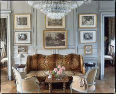 Designer - Charles Spada  - animal print sofa