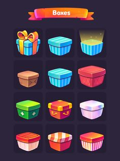 Lingoland game objects on behance game icon design, vector game, match 3 ga