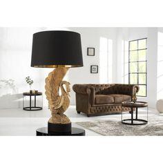 Tafellamp Zwaan Acacia handgemaakt / 36691