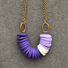 Make this fun statement necklace using Sculpey clay!