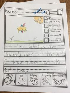 A Teeny Tiny Teacher - Fun Frunday - Writing journal entry in the first grade