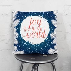 Winter Pillow  Winter Decorations  Holiday by wfrancisdesign