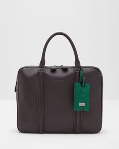 Leather document bag - Charcoal | Bags | Ted Baker AU