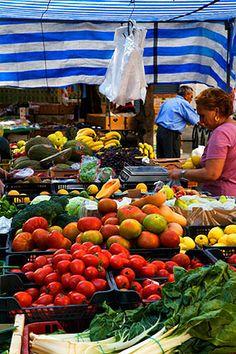 Busy Local Market in The Albayzin Granada Spain