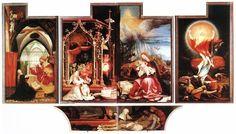 The Isenheim Altarpiece is an altarpiece painted by the German artist Matthias Grünewald in 1506-1515.  #artworkMatthiasGrünewald, #gicleeMatthiasGrünewald