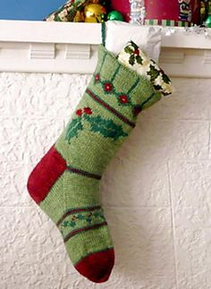 Ravelry: Holly Christmas Stocking pattern by Margaret Sullivan