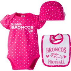 778b55bfe This spirited Denver Broncos baby girl outfit is a perfect choice for your  darling Broncos fan. babyfans