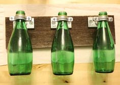 Perrier vases:  I have so many Perrier and Pellegrino bottles all over my kitchen... what a great use for them!