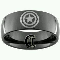 Captain America mens wedding band