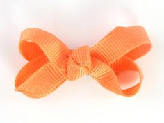 Light Orange Baby Hair Bow  Itty Bitty Boutique Bow by PoppyBows, $3.00