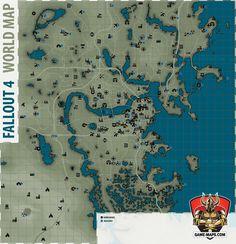Fallout 4 - Fallout 4 World Map