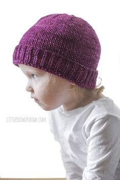 dd405925d7f Basic Folded Brim Baby Hat Knitting Pattern