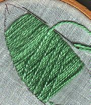Diagonal Laid Stitch Step 1