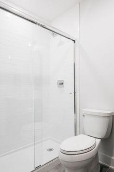 Shower Tile 3x6 subway tile You can never go wrong with classic Modern Farmhouse Design, Subway Tile, Design Trends, Basement, Toilet, Shower, Bathroom, Classic, Rain Shower Heads