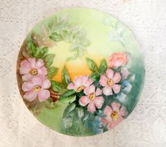 Vintage Hand Painted 8 1/4 inch Plate on by SwedishGalsAntiques