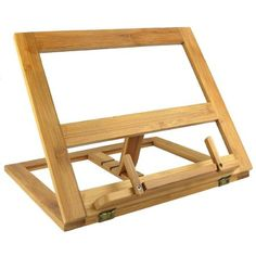 The Wooden Book Stand Design Has A Diagonal Framework Hold