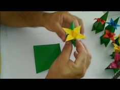 Base para flor de Origami