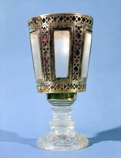 Hexagonal cup, treasure from the Basilica di San Marco (silver & rock crystal)  10th century,Venice