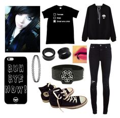"""Black Is A Great Color"" by killybuttthewierdo ❤ liked on Polyvore featuring Closed, Converse and NOVICA"