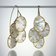 Quadrum - Summer Essentials - #AnnetteFerdinandsen mother of pearl silver dollar cluster earrings