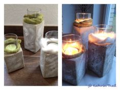 Beton Kerze Kerzenständer aus Beton