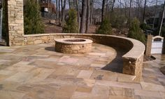 Stone patio built by Zachary Coffield, my bro