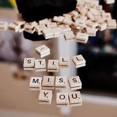 Miss You. mail the scrabble pieces and he has to spell it out Sad Quotes That Make You Cry, Missing Someone Quotes, I Miss You Quotes, Missing You Quotes, I Still Miss You, Wish You Are Here, Conceptual Photography, Favim, Army Love