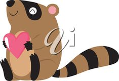 Clip Art Illustration Of A Raccoon Holding A Heart #2614359 | Clipart.com Valentines Day Clipart, Clipart Images, Royalty Free Images, Tigger, Hold On, Illustration Art, Clip Art, Disney Characters, Heart