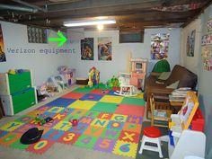 Unfinished kid friendly basement remodel