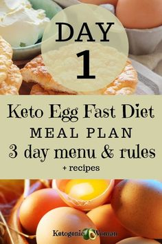 Keto egg fast diet meal plan menu and rules. Lose weight fast with the egg fast diet. Diet Ketogenik, Ketogenic Diet Meal Plan, Best Keto Diet, Diet Plan Menu, Ketogenic Recipes, Food Plan, Diet Foods, Easy Keto Meal Plan, Nutrition Diet