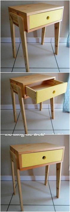 Reaching to the ending line of the modern reusing pallet ideas, we have the custom added design of table with the drawer work in it. It do appear to be shaded with the low bottom height designing but overall it look modish and so much classy.